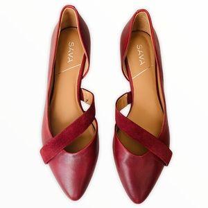 Sava Lennox D'Orsay Leather Flats Size 40/8.5